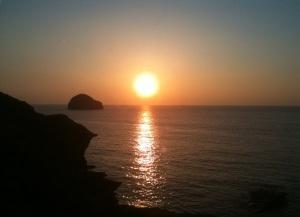 Tintagel sunset