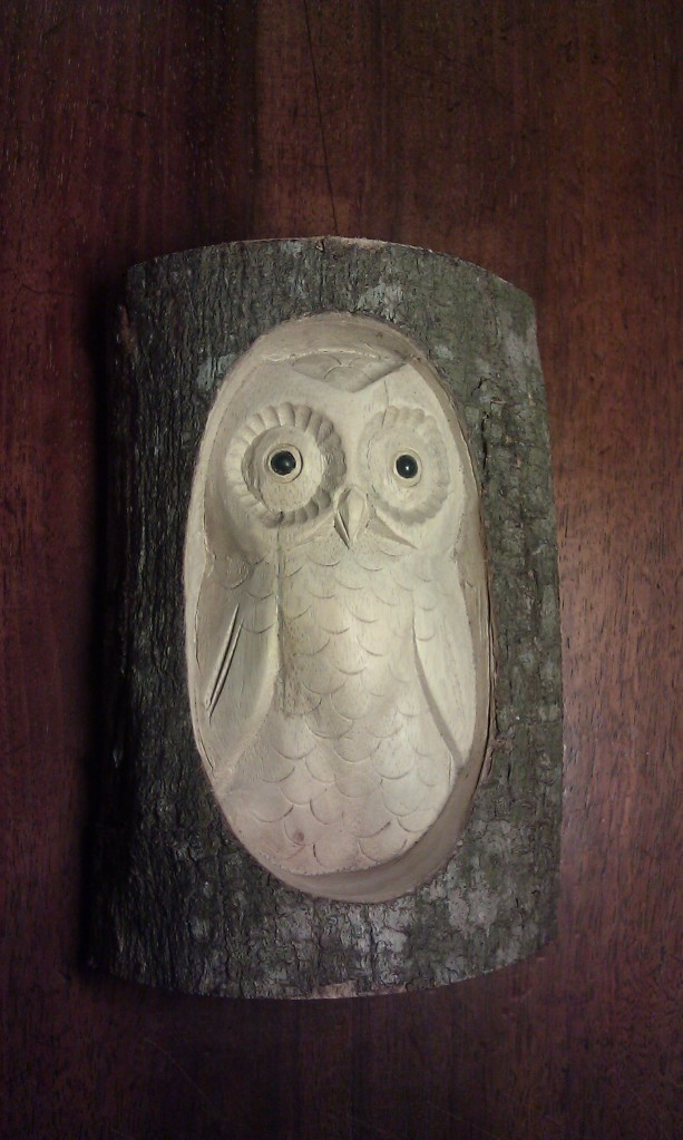 Owl carving - isn't it gorgeous?