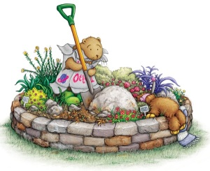 Otter-Digging-In-Garden