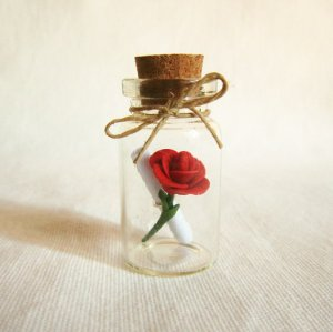 Rose in bottle 1