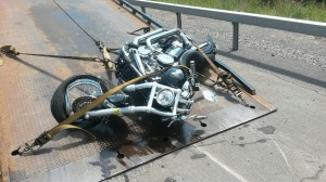 wrecked bike